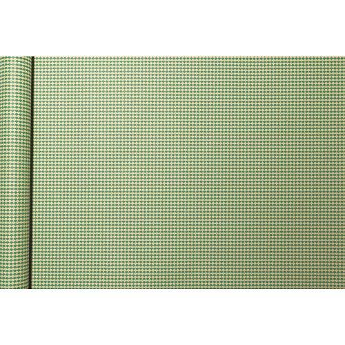 Clairefontaine 223824C Rolle Geschenkpapier Tiny rolls Kraft mit Schuppermuster (5 m x 0,35m, innovative Breite, einfach zum Transportieren, 70g, Blauer Engel) 1 Rolle, grün
