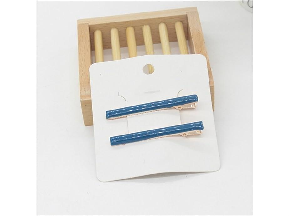 急勾配の退院ブランクOsize 美しいスタイル シンプルなヘアアクセサリーダックビルクリップカラーヘッドクリップサイドクリップヘアピン(ブルー)