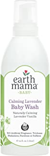 Earth Mama Calming Lavender Baby Wash Gentle Castile Soap for Sensitive Skin, 34-Fluid Ounce