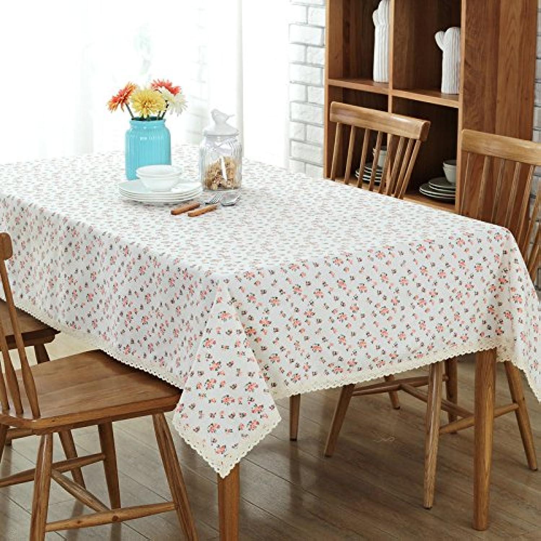 VLIMG Tischdecken , Baumwolle Leinen Gartentisch Tischdecke, Rosa, 140  220cm B07B2XSRKV Schönes Aussehen | Optimaler Preis