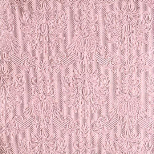 Ambiente Servietten Lunch / Party 33x33cm Elegance Pastel Rose - Hochzeit - Taufe - Geprägt / Embossed - Ideal Als Geschenk
