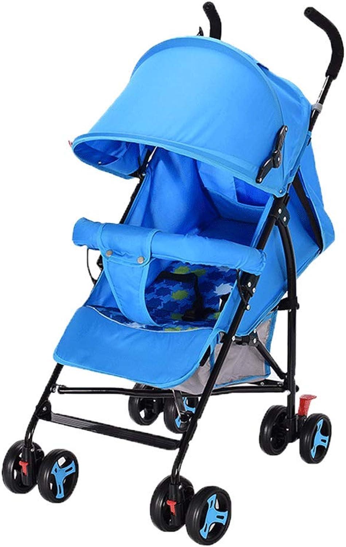 primera vez respuesta Cochecito de bebé Ultra Ligero Paraguas Plegable Amortiguador Recién nacido nacido nacido Niño Bebé Cochecito de freno Puede Sentarse Reclinado (Color   B)  apresurado a ver