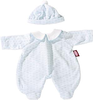 Götz 3402162 Puppen-Strampler Himmelblau - Strampler Puppenbekleidung Gr. S - 2-teiliges Bekleidungs- und Zubehörset für Babypuppen von 30 - 33 cm