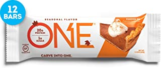 ONE Protein Bars, Pumpkin Pie, Gluten Free Protein Bars with 20g Protein and only 1g Sugar, Guilt-Free Snacking for High Protein Diets, 2.12 oz (12 Pack)