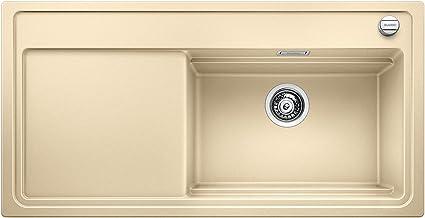 BLANCO Zenar 521233 XL 6 S StoomgarPlus, keukenspoelbak, granieten spoelbak van Silgraniet PuraDur inclusief glazen snijpl...
