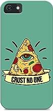 iPhone 5/iPhone 5S - Hard Plastic Case - Pizza - Illuminati - Trust No One - Quote - Fun Quote - Sassy - Sassy Quote - Green Background