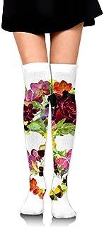 dfegyfr Calze lunghe Calze a compressione sportiva con teschio di zucchero grunge per uomo e donna