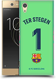 Official FC Barcelona TER Stegen 2018/19 Players Away Kit Group 1 Hard Back Case Compatible for Sony Xperia XA1 / Dual