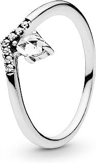 Pandora Jewelry Classic Wishbone Cubic Zirconia Ring in Sterling Silver