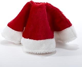 "Kurt Adler 15"" Red and White Plush Mini Christmas Tree Skirt"