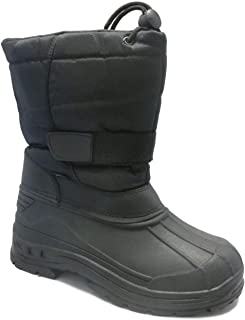 SkaDoo Boys'Snow Goer Boots - Black, 11 Toddler