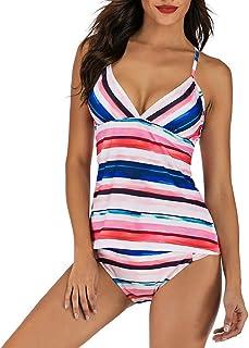 37ec82bea4 Ensemble de Tankini Grande Taille Femme,UFACE® maillot de bain Cache ventre  Col V