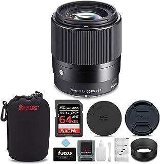 Sigma 30mm f/1.4 DC DN コンテンポラリーレンズ Canon EF-M用 64GB Extreme PRO SDカード レンズポーチ アクセサリーセット