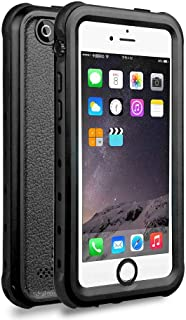 iPhone 5 5S SE Waterproof Case, Upgraded Shockproof Dropproof Dirtproof Rain Snow Proof Full Body Protective Cover IP68 Certified Underwater Case Built-in Screen Protector for iPhone 5S 5 SE (Black)