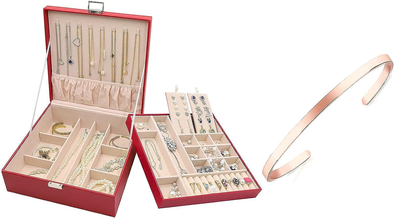 ProCase Jewelry Box for Women Girls Christmas Valentine's Day Id