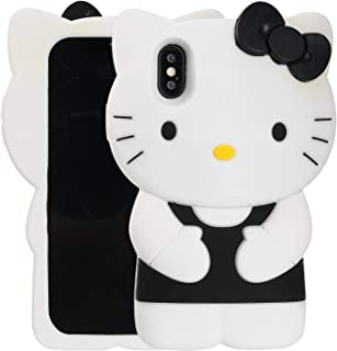 Case for iPhone Xr 2018 6.1 inch,Phenix-Color 3D Cute Cartoon Soft Silicone Pig Hello Kitty Love Bear Gel Back Cover Case for iPhone Xr 2018 6.1 inch (#40)