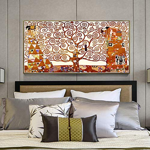 ganlanshu Rahmenlose Malerei Klassische Poster und Drucke auf Leinwand. Berühmte Wandkunstbilder. Baum des Lebens Dekoration.CGQ8275 20X30cm
