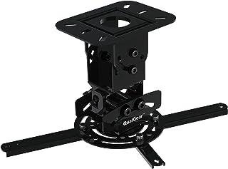 QualGear Universal Ceiling Mount Projector Accessory Projector Mount (PRB-717-BLK) Black