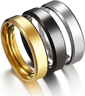 Stainless Steel Rings for Men Women Wedding Ring Cool...