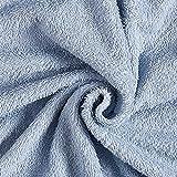 Frotteestoff – himmelblau — Meterware ab 0,5m —