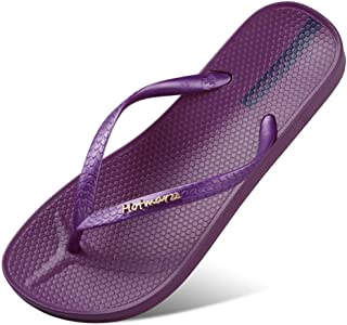 Comfortable/beautiful sandals and slippers Outer Wear Couple Flip Flops Ladies Casual Sandals And Slippers Summer Pinned Flat Beach Shoes Women (Color : Purple)