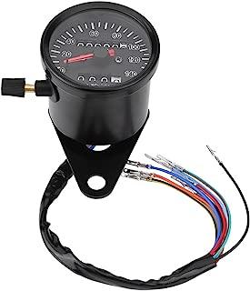Fydun Motorcycle Speedometer 60mm Black Motorcycle Odometer Speedometer Gauge with indicator