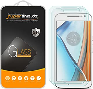 (2 Pack) Supershieldz for Motorola Moto G4 and Moto G (4th Generation) Tempered Glass Screen Protector, Anti Scratch, Bubble Free