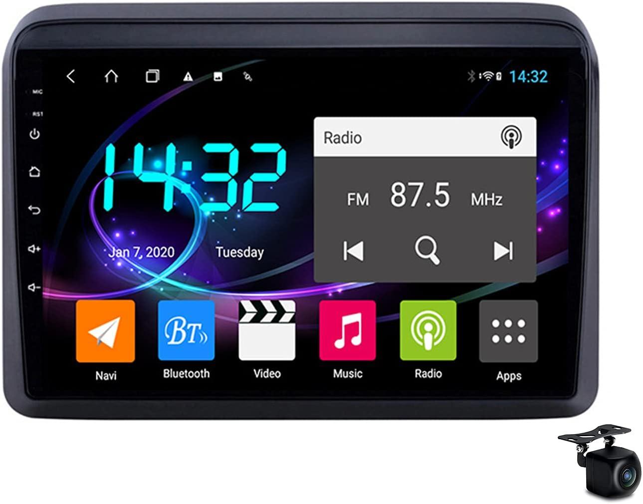 YCJB Car Stereo Android 10.0 Sat Nav for Suzuki Ertiga 2018-2021 GPS Navigation 9'' Headunit MP5 Multimedia Video Player FM Radio Receiver with 4G 5G WiFi SWC Carplay,4core WiFi 1+16gb