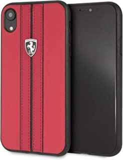 CG Mobile iPhone Xr Ferrari Cell Phone Case, Off Track Collection, Pu Leather Hard Case with Contrasting Stitching Finishe...