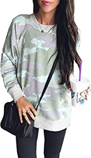 c4068544ee2 onlypuff Casual Tops for Women Long Sleeve Mama Bear Shirts Folral Print  Tunics for Leggings