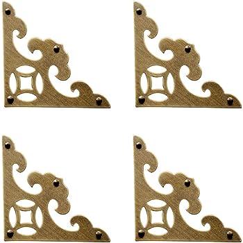 4Pcs Box Corner Decorative Jewelry Protector Case Wooden Furnitur Decor Repair