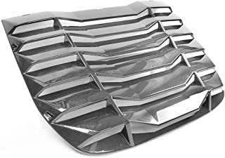 IKON MOTORSPORTS | Window Louver Compatible With 2009-2019 Nissan 370Z Coupe | IKON Style Rear Window Louvers Cover Sun Shade Carbon Fiber Print | 2010 2011 2012 2013 2014 2015 2016 2017 2018