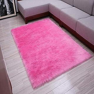 TopSpitgo Imitatie-lamsvel, wit tapijt, hoogpolige, superzachte lamsvacht, vloerkleed voor woonkamer, slaapkamer, kinderka...