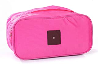 Packing Organizer, Rose Red Bra Storage Bag Used Used for Travel Underwear Cosmetics