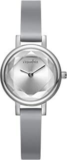 RumbaTime Women's 'Venice' Quartz Stainless Steel and Silicone Casual Watch, Color:Grey (Model: 27075)