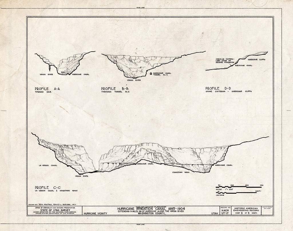 Historic Pictoric : Blueprint HAER Utah 1- Sheet of Time sale 3 Max 86% OFF 27-HURI