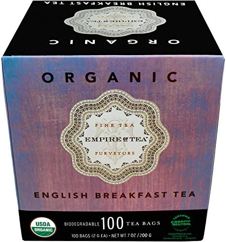 Empire of Tea USDA Organic English Breakfast Individually Wrapped Bulk Tea Bags 100 Count product image