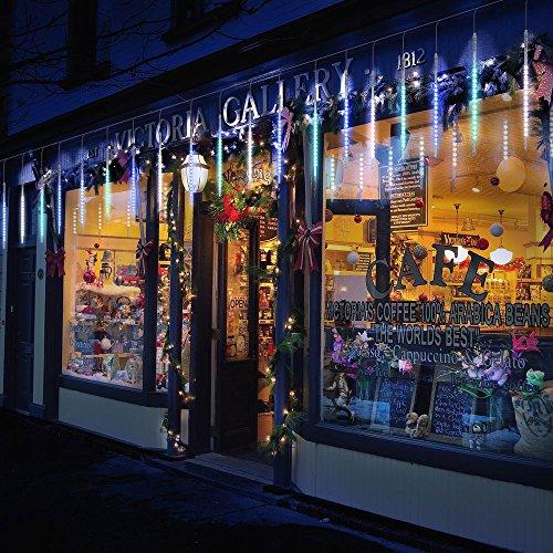 TR Turn Raise Lumières de 50cm 10 Tube 540LED Pluie Imperméable à L'Eau de Pluie de Météores Mariage Parti Décoration D'Arbre de Noël (50CM-Multi-Color)