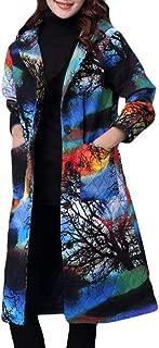 NiceButy Vintage mujeres ni/ñas estampado Floral largo Loose Kimono chaqueta abrigo Cardigan Blusas
