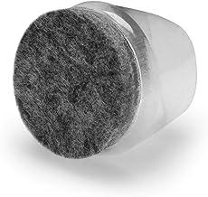 GLEITGUT 4 x stoeldoppen met viltglijvlak transparant - voor stalen buizen 21-23 mm - voetkappen viltglijders
