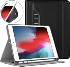 """MoKo Case Fit 2018 iPad 9.7 6th Generation with Apple Pencil Holder - Premium Shock Proof Multi-Angles Stand Folio Cover Protector Fit Apple iPad 9.7"""" 2018 (A1893/A1954), Auto Wake/Sleep - Black"""