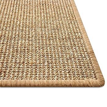 casa pura Tapis pour Chat - Tapis griffoir en sisal résistant   Fibre 100% Naturelle Anti-Allergique   Nature - 100x100cm