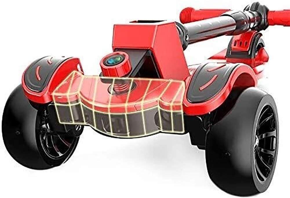 Patinetes Para Niños Barras de motos, Scooter adultos, Vespa Ruedas, Kick plegable for niños con ruedas grandes Pu, Kick ajustable con extra ancho del pedal y de Streering flexible, 110 libras de capa
