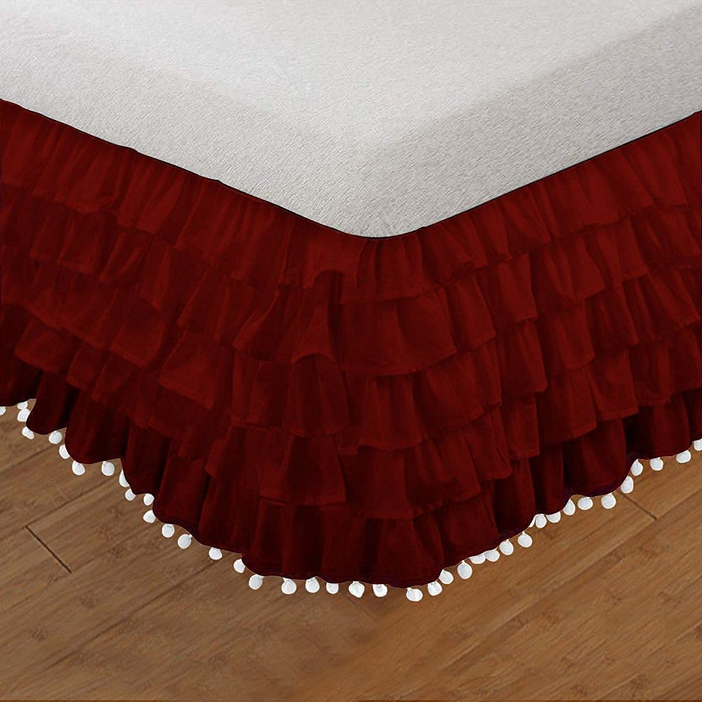 BedFantasy Queen Size Pom Max 90% OFF Multi Ruffle Egy 100% Skirt Daybed Lowest price challenge