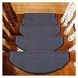 ZYF Alfombrillas para Escaleras Alfombras De Peldaños Semicirculares Esteras 24x65cm Escaleras Escaleras Almohadillas Antideslizantes Floor Runner Alfombras Antideslizantes Peldaños de Escalera Al