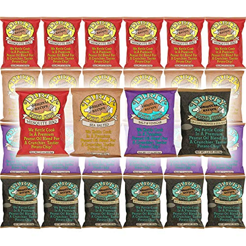Kettle Cooked  Potato Chips, Gluten-Free A Crunchier Tastier Dirty Potato Chip, Ultimate Variety Pack (24-Pack Variety)