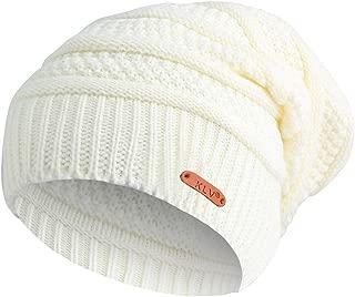 DEATU Clearance KLV Hat Men Women Winter Knit Ski Beanie Skull Slouchy Caps Unisex Baggy Warm Crochet Hat