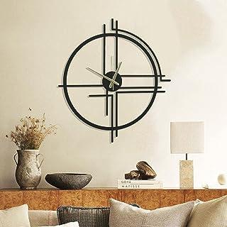 Wallcentre Art Beyond Imagination Mild Steel Minimalist Metal Wall Clock for Home, Office, Living Room Decor (Black, Size:...