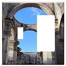 1-Toggle 1-Rocker/GFCI Combination Wall Plate Cover - Antigua Guatemala Architecture Historical Rui