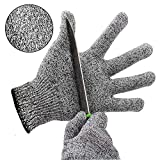 Schnittschutzhandschuhe Kinder küche Hochleistung Schnittschutz Handschuhe Leicht 5 Handschutz Ebene lebensmittelecht schnittfeste Handschuhe (L)